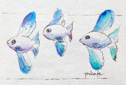 Ink Paintings - Regatta Fish by Pat Katz