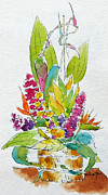 Floral Arrangement Paintings - Regatta Tropical Floral by Pat Katz