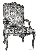 Lee-ann Drawings - Regency chair by Lee-Ann Adendorff