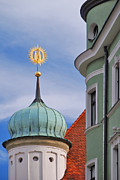 Rooftop Prints - Regensburg architecture  Print by Anthony Citro