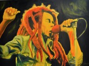 Rock And Roll Painting Originals - ReggaeBob by Mitchell Todd