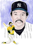 World Series Painting Framed Prints - Reggie Jackson Framed Print by Steve Ramer