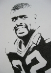 Pro Football Drawings Posters - Reggie Poster by Lynet McDonald