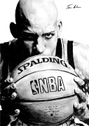 Nba Drawings Metal Prints - Reggie Miller Metal Print by Tamir Barkan