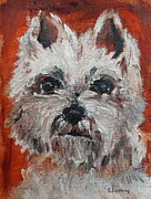 Yorkie Drawings - Reggie by Outre Art Stephanie Lubin