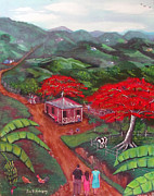 Puerto Rico Paintings - Regreso al Campo by Luis F Rodriguez