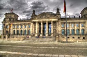 Berlin Germany Photo Framed Prints - Reichstag Building  Framed Print by Jon Berghoff