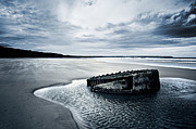Old Shipwreck Photos - Reighton Sands beach by Svetlana Sewell