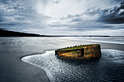 Old Shipwreck Photos - Reighton Sands coast by Svetlana Sewell