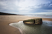 Old Shipwreck Photos - Reighton Sands shore by Svetlana Sewell