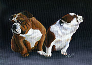 Canines Painting Framed Prints - Rejection Framed Print by Suni Roveto