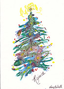 Holiday Notecard Originals - Rejoice Christmas Tree by Michele Hollister - for Nancy Asbell