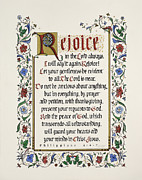 Love Letter Painting Prints - Rejoice II Print by Judy Dodds