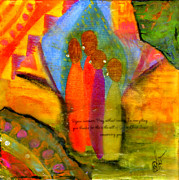 Wax Mixed Media Posters - Rejoice Some More Poster by Angela L Walker