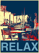 Take-out Mixed Media Prints - Relax Print by Marvin Blatt