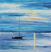 Yacht Paintings - Relaxation by Leonid Afremov