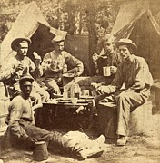 Army Of The Potomac Photos - Relaxed Scene Of Soldiers From The Army by Everett