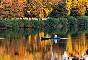 Fishing Creek Prints - Relaxing Fall Print by Greg Sharpe