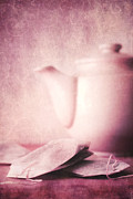 Vertical Metal Prints - Relaxing Tea Metal Print by Priska Wettstein