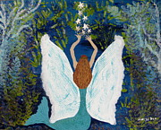 Fairy Art Originals - Releasing the Shinys by Nancy Pace