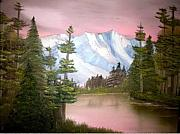 Sloan Paintings - Relections in Pink by Ervin Sloan