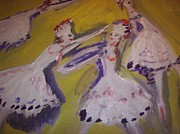 Ballet Dancers Paintings - Releve by Judith Desrosiers