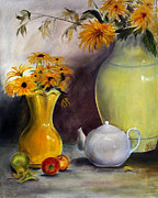 Fruit And Sunflowers Acrylic Prints - Reliable Loyalty Acrylic Print by Jane Autry