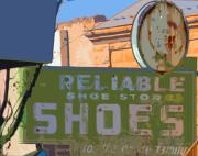 Small Town America Posters - Reliable Shoes Poster by Charlette Miller