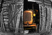 Barns Digital Art Prints - Relic From Past Times Print by Heiko Koehrer-Wagner