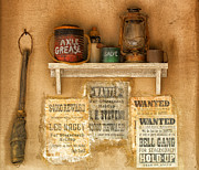 Dust Posters - Relics of the Old West Poster by Sandra Bronstein