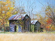 Old Barns Paintings - Relics of the Past by Patricia Harriss