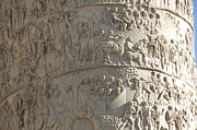 Hand Made Framed Prints - Relief. detail view of the Trajan Column. Rome Framed Print by Bernard Jaubert