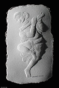 Indian Reliefs - Relief flute player by Suhas Tavkar