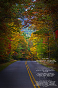 Unwind Prints - Relief Road  Blue Ridge Parkway Print by John Haldane
