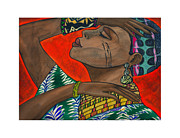 African Dance Mixed Media Posters - Relief Poster by Roy Guzman