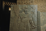Relief Sculpture Acrylic Prints - Relief Sculpture Of Assyrian King Acrylic Print by Randy Olson