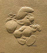 Suhas Tavkar - Relief smurf on paper