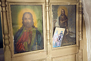 Greece Photos . Photos - Religious pictures inside Greek orthodox church at Kastrou Monolithos Rhodes Greece by Ian Murray