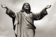 Religious Prints Photos - Religious Spiritual Christian Art Jesus  by Kathy Fornal