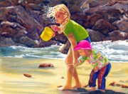 Big Sur Beach Originals - Reluctance by Gerald Carpenter