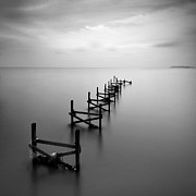 Malaysia Photos - Remains Of Jetty by Azman Rahman