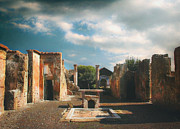 Volcano Pyrography Prints - Remains of Pompeii Print by Jan Vidra