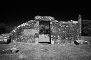 Historic Ruins Framed Prints - Remains Of The 6th Century Church On The Monastic Site At Nendrum On Mahee Island County Down Framed Print by Joe Fox