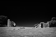Historic Ruins Photos - Remains Of The 6th Century Monastic Site At Nendrum On Mahee Island County Down Northern Ireland by Joe Fox