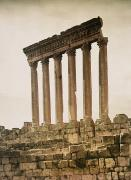 Roman Ruins Posters - Remains Of The Jupiter Temple Poster by Maynard Owen Williams