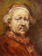 Impasto Oil Paintings - Rembrandt Portrait study by Steven Paul Carlson