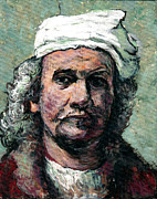 Interpretation Painting Prints - Rembrandt Print by Tom Roderick