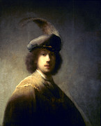Self-portrait Photo Prints - REMBRANDT van RIJN Print by Granger