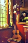 Stained Glass Posters - Rembrandts Hurdy-Gurdy Poster by Patrick Anthony Pierson