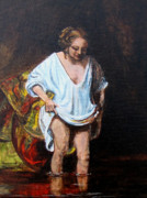 Master Repros - Rembrandts Woman Bathing by Pauline Ross